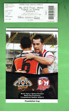 #D351.  2012 RUGBY LEAGUE FOUNDATION CUP PROGRAM & TICKET #4622