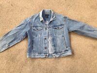 Vintage Calvin Klein Jeans Women's Jean Jacket Size Large Stone Wash
