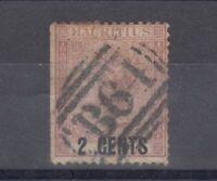 Mauritius Seychelles QV 1878 2c On 1d SGZ37 Fine Used Cat £100 J5857