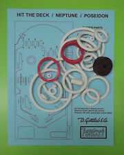 1978 Gottlieb Neptune / Hit the Deck / Poseidon pinball rubber ring kit