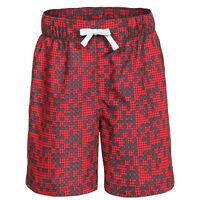 Trespass Alley Boys Red Summer Shorts with Inner Mesh Pants