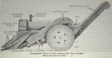 John Deere 227 227S Corn Snapper& Picker Parts Catalog Manual Book Original 2/64