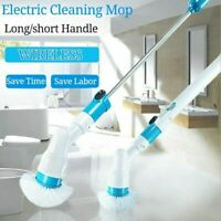 Electric 360° Spin Cleaning Scrubber 3 Brushes Bathroom Floor Wall Chargeable