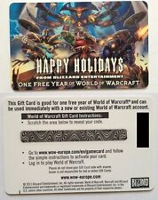 World of Warcraft subscription game time  - 1 year - EU servers  - CODE ONLY