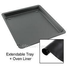 UNIVERSAL Teflon Extendable Oven Baking Tray Sheet & Heavy Duty Cooker Liner
