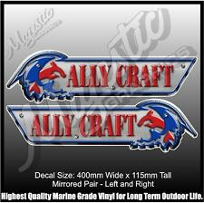 ALLY CRAFT - 400mm x 115mm x 2 - BOAT DECALS