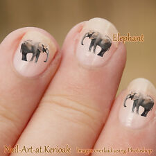Elephant, wild animal, 24  Nail Art Stickers Decals only from Kerioak