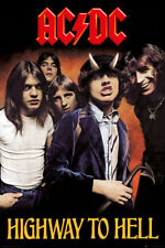 "AC/DC POSTER ""HIGHWAY TO HELL"" ANGUS YOUNG, MALCOLM YOUNG, BON SCOTT"