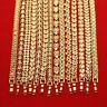 "Modern Well Carved Sparking 18K Gold Filled Bracelet Bangle Jewerly  7"""