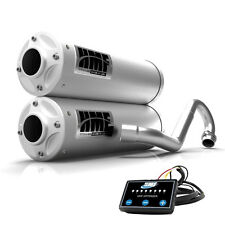 HMF Titan Quiet Dual Full System Exhaust Turbo Back Stainless + EFI Maverick X3