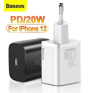 Baseus PD 20W Quick Charge QC3.0 QC USB Type C Fast Charging Charger For iPhone