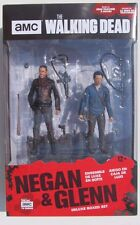 AMC THE WALKING DEAD NEGAN & GLENN 2-PACK DELUXE BOX SET w/STAND 5 inch Figures
