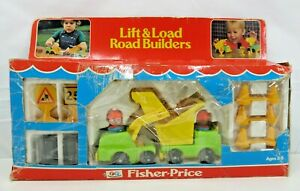 Vintage Fisher Price Lift and Load Road Builders Truck 1978 Made in USA