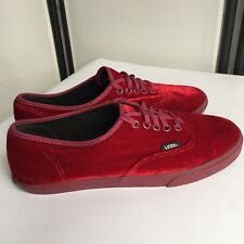 2e5604f30fa6 Vans Red Velvet Shoes Womens Size 9 Or Mens Size 7.5 Priced2sell Good  Condition