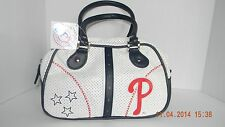 White Leather Mlb Brand Phillies Handbag/Pocket Book- New with Tags