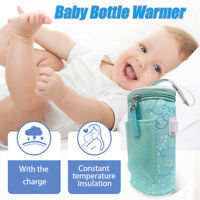 Newborn Travel Cup Heater Infant Bottle Warmer Insulated Bag Milk Thermostat