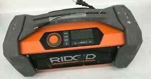 RIDGID R84087 Jobsite Radio Speaker Bluetooth Wireless Stereo Boom Box, V.G
