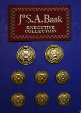 8 JOS. A. BANK Gold tone Eagle Logo blazer buttons, in good used antiquated cond