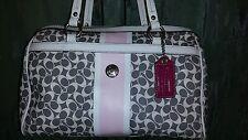 COACH  Chelsea Heritage Satchel Handbag  A1176 - F15132  Pink Gray White Magenta