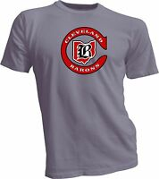 CLEVELAND BARONS DEFUNCT OLD TIME NHL HOCKEY GRAY T-SHIRT NEW Handmade Sports