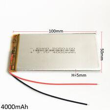 4000mAh 3.7V Lipo Polymer Battery For power bank mobile phone tablet pc 5050100