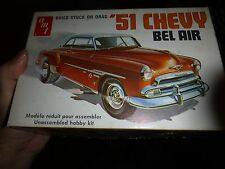 AMT 1951 CHEVY BEL AIR COUPE T295 VINTAGE 1/25 Model Car Mountain KIT OPEN