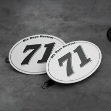 "x2 Table NUMBER PLATE for MOTO CAFE RACER tracker scrambler  ""71"""