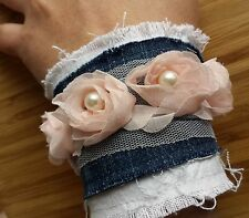 Armband shabby spitze lace steampunk corsage rock pagan gothic punk industrial