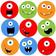 144 Monster Smiles 30mm Children's Reward Stickers for Teacher, Parent
