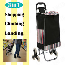 Folding Shopping Cart Climbing Trolly Waterproof Grocery Laundry 150 lbs