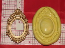 Oval Vintage Frame Mold Silicone Cake Fondant Resin Clay Craft Soap Ceramic 121