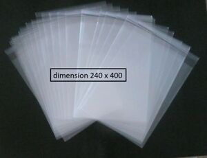 50 POCHETTES PLASTIQUE  PROTECTION BD BANDE DESSINEE 240X400
