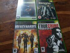 Original Xbox Action Bundle X4 Mercenaries Playground True Crime LOTR Eragon VGC