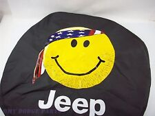 Smiley face spare tire cover 82212306 Jeep Wangler JK TJ OEM Mopar