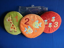 Set of 3~TIDDLIWINKS~Velour ABC 123 WALL ART / HANGINGS~New In Package
