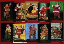 1994 COCA COLA Series 3 Sundblom SANTA 10 card foil set