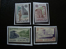 ANDORRE - 4 timbres  n* (europa) (A22) stamp andorra