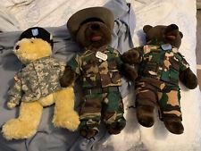 Military teddy bears: Army And Marines - Set Of Three