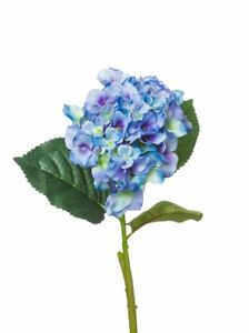 Farbe blau 4er Set Kunstblume Hortensie 62 cm Höhe ca