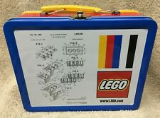 5006017 LEGO LUNCHBOX tin metal Brick Patent Sketch Exclusive Promo NEW lunch