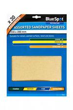 Paquet de 30 assorti feuilles de Papier ponce - Rude moyen fin et extra fin