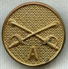 1920's US Army Cavalry Troop A Collar Disc