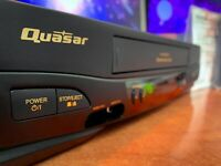 QUASAR (Panasonic) VHQ-41M NTSC VCR + VHS Disney Movie Bundle