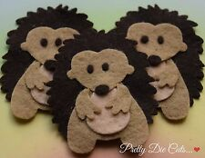 Felt Hedgehogs (pack of 3) Die Cut Animal Craft Embellishments