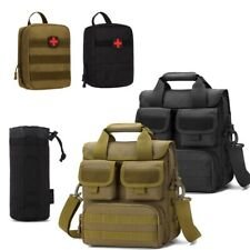 Men Military ​Tactical Shoulder Bag Messenger ​First Aid Kit Survival Molle Bag