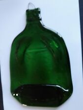 Melted Flat Shaped Green Gin Bottle Hanging Great to Decorate yourself