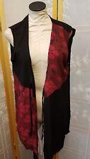 NWT Meng Designs Rayon Batik Top ONE SIZE Pool Beach Vest Red Black CUTE