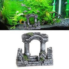 Aquarium Resin Rome Square Stone Pillars Landscaping Fish Tank Bi-Columns Decor