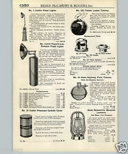 1940 PAPER AD Carbic Portable Acetylene Generator Flood Light Prest O Lite