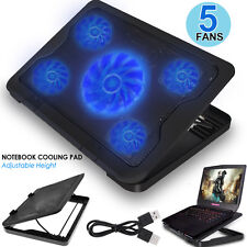 Portable Laptop Notebook USB Cooler Cooling Pad Stand LED Powerful Fan Radiator